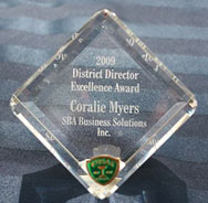 2009 Washington State District Director's Excellence Award